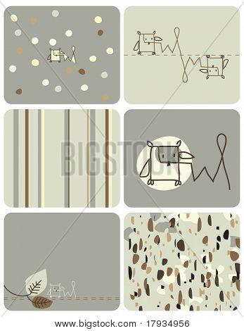 Vector Owl (Graphic set)