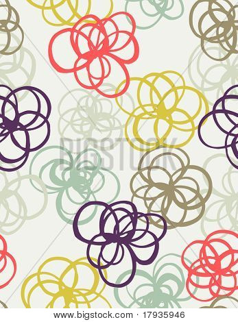 Vector seamless pattern displaying floral