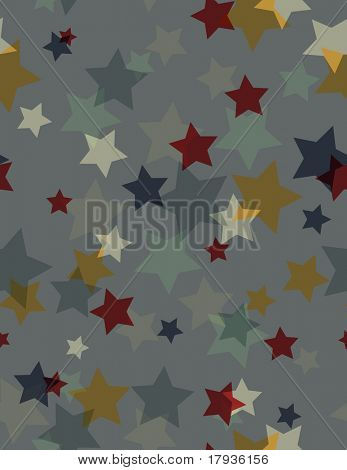 Vector seamless pattern featuring an acetate effect in scattered stars.