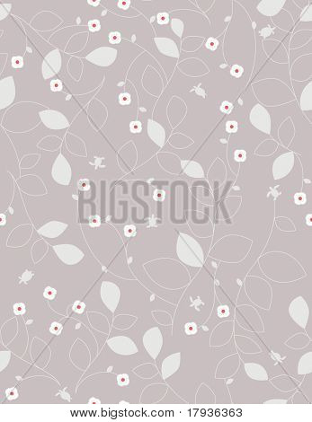 Vector seamless pattern displaying cute little turtles swimming in a retro garden.