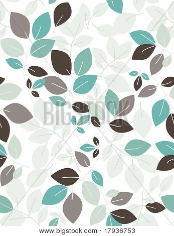 Vector seamless pattern displaying leaves.