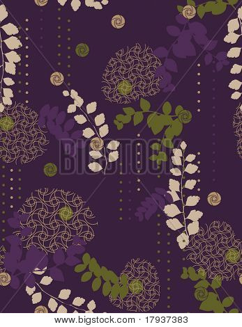 Vektor floral (Seamless Pattern)