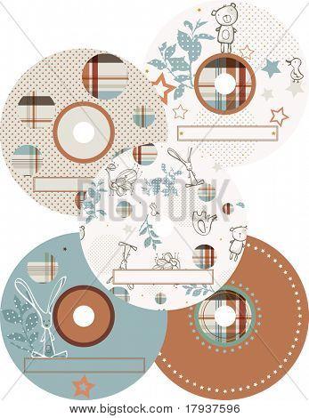 Vector CD Labels (Graphics Set)