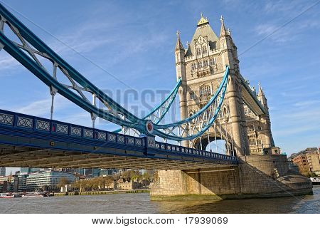 Tower Bridge, London, England, Uk, Europe, From The East, On A Sunny Spring Afternoon