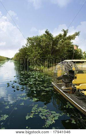 Airboat in Everglades Florida Big Cypress National Preserve