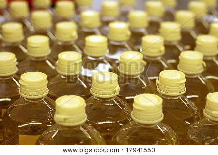 sunflower seed oil pattern factory warehouse store food background
