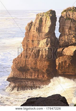 Pancake Rock At West Coast Of New Zealand