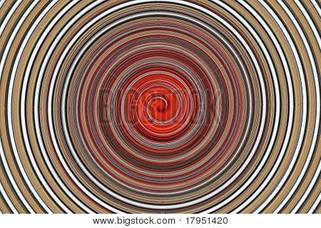 Orange and Beige Swirling Graphic Backgdrop