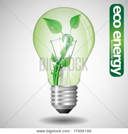 Eco bulb with leaves