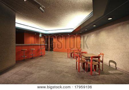 interior of a Congress Palace, bar