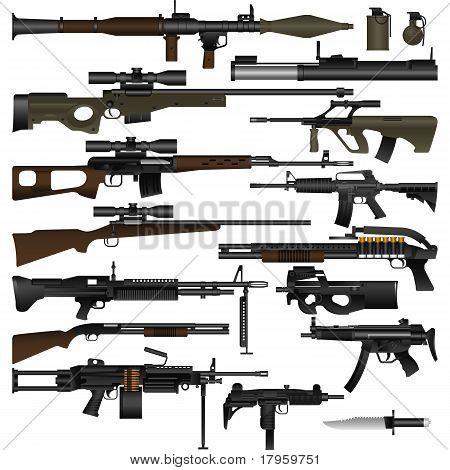 Постер, плакат: Оружие, холст на подрамнике