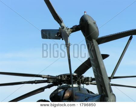 Angles Of An Airshow Military Helicopter