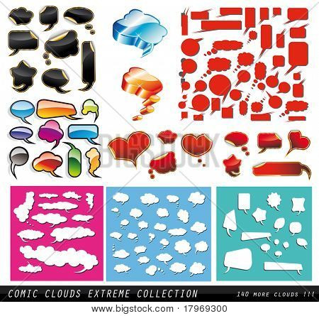 Comic Clouds EXTREME collection with more than 130 elements
