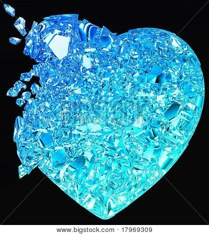 Blue Broken Heart: Unrequited Love