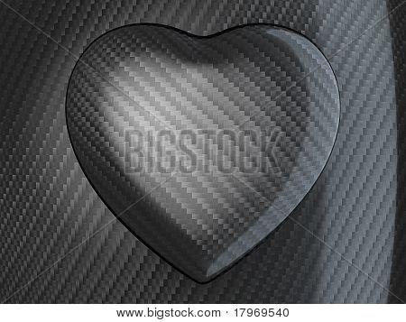 Love: Carbon Fibre Heart Shape