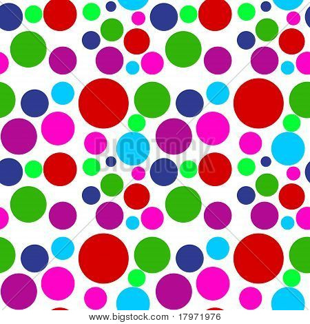 Colored Dots Seamless Pattern
