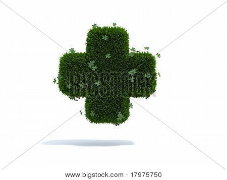 green heart grass clovers