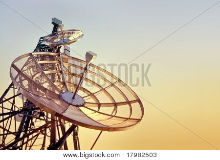 Telecommunications Tower At The Sunset