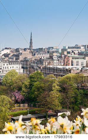 A View Of Edinburgh Princes Street