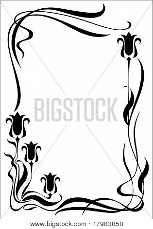 Vector Frame Modern Vertical Black On A White Background