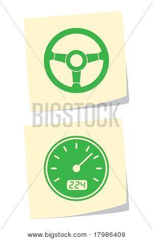Rad und Tachometer-Symbole
