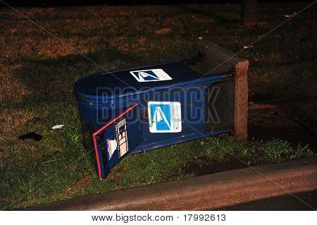 Storm Damaged Mailbox