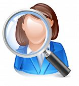 employee search icon for headhunting