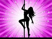 stock photo of pole dancing  - Sexy pole dancer - JPG