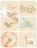 Vector graphic set displaying cute baby jungle animals.