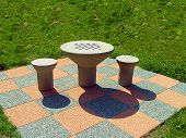 Chess-Board Outdoors poster