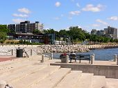pic of burlington  - A view on the edge of the lake Ontario with the beautiful promenade and