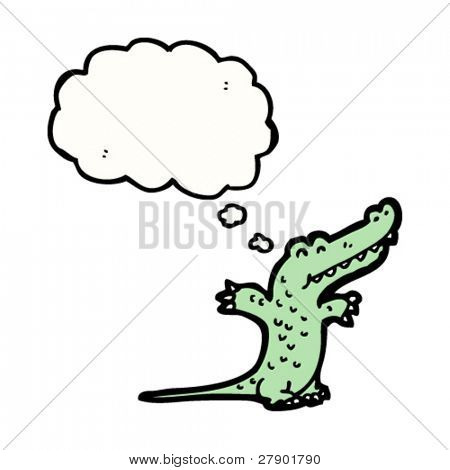 crocodile with thought bubble