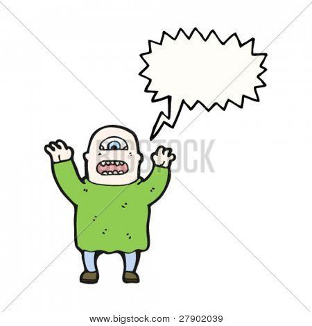 dibujos animados de ogro