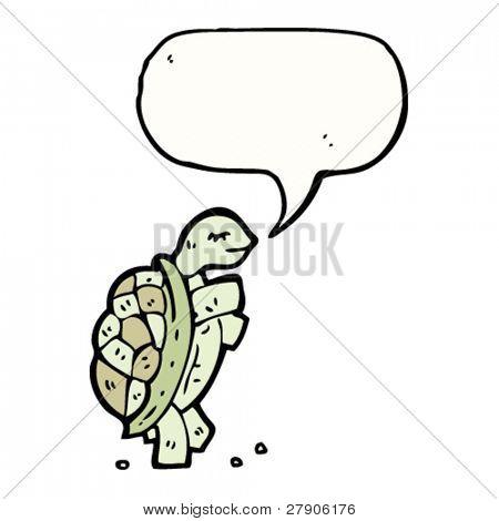 talking tortoise walking upright cartoon
