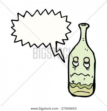 hangover wine bottle cartoon