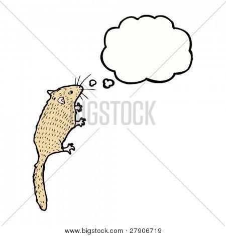 Ilustración de ratón de puerta