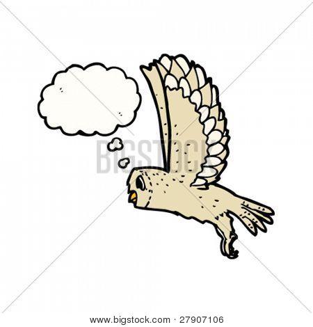 Vector y foto Dibujos Animados De Buho Volando  Bigstock