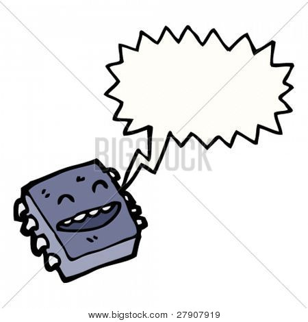 happy microchip cartoon