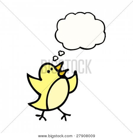 tweeting bird cartoon