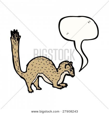 stoat with speech bubble illustration