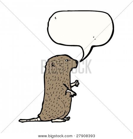 water vole cartoon