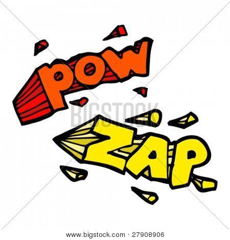 comic book pow zap cartoons