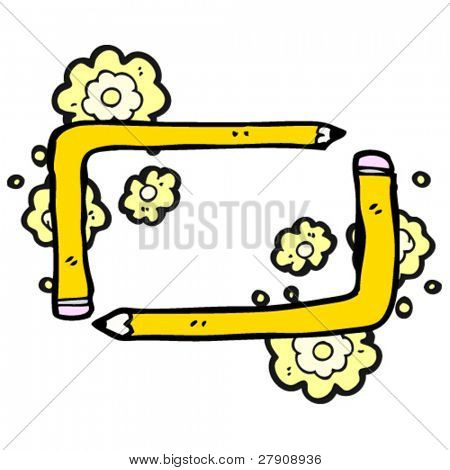 authentic looking child's decorative frame drawing