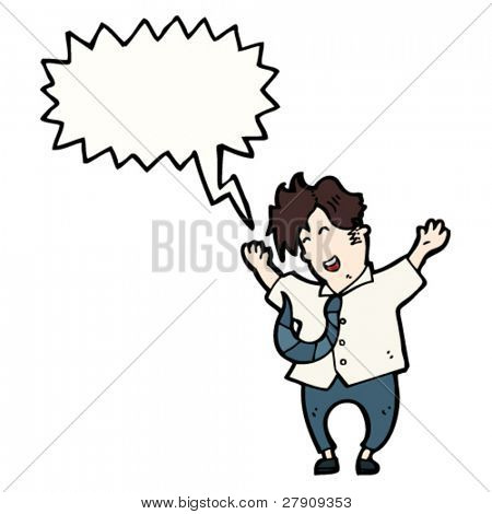 man jumping for joy cartoon