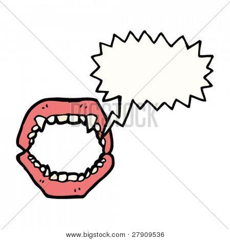 vampire fangs cartoon