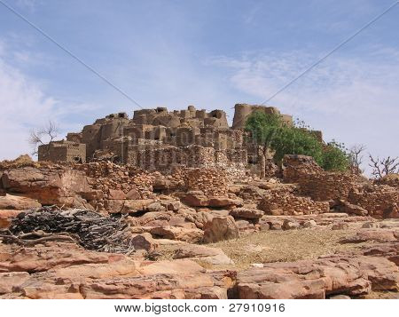 A Dogon city in southern Mali, Africa