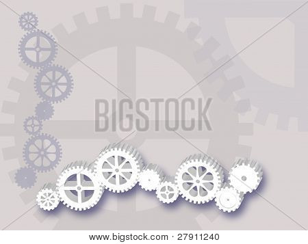 Line of Gears Background