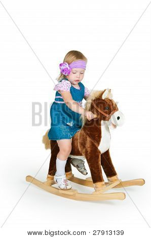 Babyand Toys Horse Isolated On White