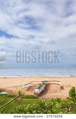 Double-outrigger Hawaiian Canoe
