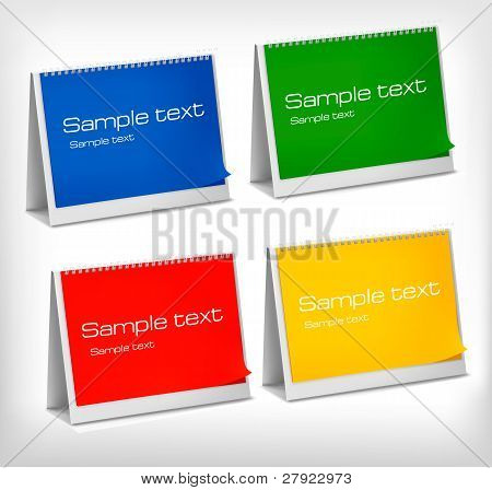 Four colorful banners. Vector illustration.